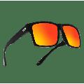 TOROE Matte Black TR90 Frame Unbreakable Polarized Sunglasses with Sunrise Mirrored Hydrophobic AR Coated Lenses