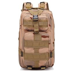 URHOMEPRO Outdoor Tactical Backpack, Multi-functional Military Tactical Backpack, Waterproof Oxford Cloth Backpack for Men Youth Hiking Trekking, Assault Army Rucksack, Desert Camouflage, W8767