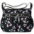 Women Cross-body Bag Classic Travel Shoulder Bag Trendy Messenger Bag Large-capacity Nylon Cross-body Bags, Black