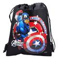 Captain America Character Authentic Licensed Black Drawstring Bag