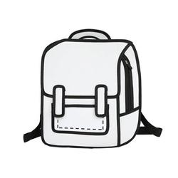 Creative Women 2D Drawing Backpack Cartoon School Bag Teenager Girls Daypack