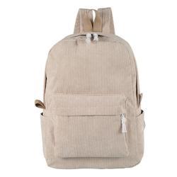 Miuline Corduroy Knapsack Casual Backpack Unisex Classic Campus Portable Ultra Soft Handbag
