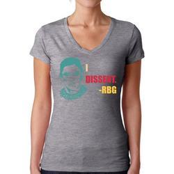 Awkward Styles Ruth Bader Ginsburg Shirt for Women Dissent RBG Notorious V-neck Shirt RBG T Shirt Ladies Support Women Empowerment V neck T-shirt