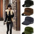 Grofry Cap ,Adjustable Cool Unisex Classic Women Men Adjustable Plain Vintage Army Military Cadet Style Cap Hat