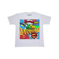 Inktastic I'm Five Comic Book Child Short Sleeve T-Shirt Unisex