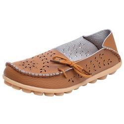 TOYFUNNY Mother Casual Hole Shoes Nurse With Flat Shoes Women s Casual Driving Shoes