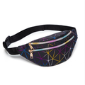 Women Geometric Patterns Waist Bag, Bright Colors Waterproof Fanny Pack
