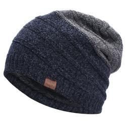 Mens Winter Knitted Wool Beanie Ski Hats Slouchy Casual Thermal Thick Warm Caps