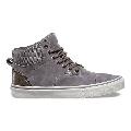 Vans Era Hi Pig Suede Nylon Frost Grey/Blanc de Blanc Men's Skate Shoes Size 8.5