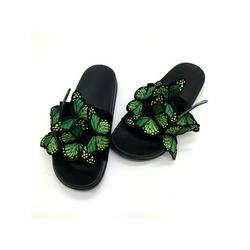 Colisha Women Butterfly Slippers Sliders Slip On Casual Shoes Summer Flats Beach Sandals Women's Fashion Slippers Flat Heel Sandals Backless Casual Shoes Butterfly Decor