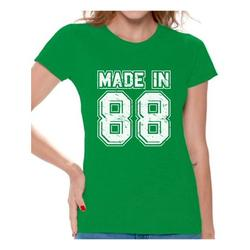 Awkward Styles Made In 88 Tshirt 30th Birthday Party Outfit for Women Born in 1988 Funny Birthday Shirts for Women 30th Birthday Shirt Funny Thirty Shirts Womens 30th Tshirt B-Day Party 88 T-Shirt