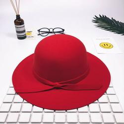 Retro Wind Children Girls Big Hat Big Hat Bow Beach Hat Sun Hat Outdoor Cap Beach Casual Big Hat