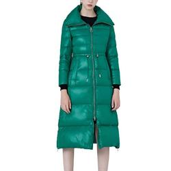 Women Thickened Long Down Jacket Maxi Down Parka Puffer Coat Classic Warm Quilted Ladies Casual Long Sherpa Lined Coat