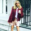 Anself Winter Women Faux Fur Coat Solid Color Long Sleeve Fluffy Outerwear Short Jacket Hairy Warm Overcoat
