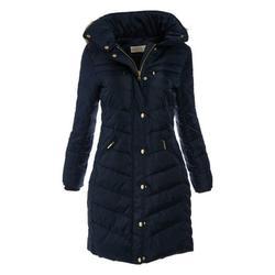 Navy Winter Jackets for Women Michael Kors Puffer Down Jacket and Coats Hooded Faux Fur-Trim Lightweight Jackets Online