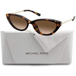 Michael Kors MK2109U PERRY 333313 57M Dark Tortoise/Smoke Gradient Cat Eye Sunglasses For Women+FREE Complimentary Eyewear Care Kit