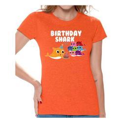 Awkward Styles Shark Ladies T Shirt Shark Women's Shirt Shark Themed Party Shark Gifts Tshirt for Mom Shark Birthday Party Kids B-Day Outfit Kids Party Outfit for Grandma Lovely Shark Shirt for Wife