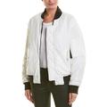 Nicole Miller Artelier BLACK/WHITE Reversible Bomber Jacket, US Large
