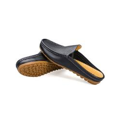 Lacyhop Fashion Mens Shoes Leather Shoes Men Breathable Casual Shoes Loafers Mule Shoes