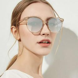 Retro Round Transparent Frame Sunglasses Women Men Brand Designer Sun Glasses for Women Alloy Mirror Sunglasses Ray Ladies