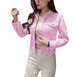 Wenasi Boyfriend Jean Jacket Women Denim Jackets Vintage Long Sleeve Jacket Casual Slim Coat