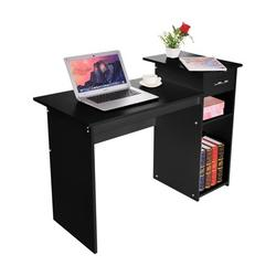 Botrong Multipurpose Home Office Computer Writing Desk With Drawers Dormitory Study Desk,Black