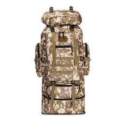 100L Military Molle Tactical Backpack Hiking Trekking Outdoor Rucksack Camo Bag