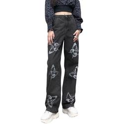 Sexy Dance Women High Waist Jeans Flares Casual Wide Leg Denim Jeans Fashion Boyfriend Denim Long Pants Trendy Casual Jeans