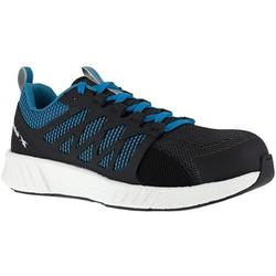 Reebok Work Mens Fusion Flexweave Composite Toe EH Shoes Casual Work Safety Shoes, Black