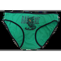 Bad Cat Women Juniors Panty Panties Underwear Intimates Hipster Brief (16, Green)