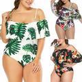 Pudcoco Sexy Women One-Piece Push Up Bikini Floral Swimsuit Bathing Swimwear PlSize
