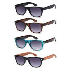 Gamma Ray Bifocal Sunglasses for Men and Women - 4 Pairs Sun Readers Sunglasses