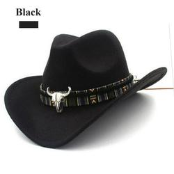 Unisex Cowboy Hat Ethnic Style Western Women's Wool Hat Jazz Hat Western Cowboy Hat for Beach,the Game,Tailgate,Concert,or Music Festival Accessories