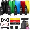 Resistance Bands Set,Workout Bands with Handles for Women & Men,3 Exercise Loop Bands,Door Anchor,Ankle Straps,Portable Home Gym Workout Fitness Equipment for Training, Physical Therapy ,Yoga.(Se