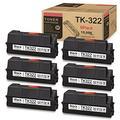 (6-Pack,Black) TK322 Compatible Toner Replacement for Kyocera TK-322 (1T02F90US0) Ink Cartridge FS-4000DTN FS-3900DTN FS-4000DN FS-3900DN Printer Toner Cartridge, Sold by JIEBOINK