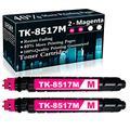 Compatible 2 Magenta TK-8517M Ink Cartridge Replacement for Kyocera Copystar CS-5052ci CS-6052ci TASKalfa 5052ci 6052ci Printer Cartridges,Sold by TopInk