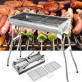Barbecue grill,Barbecue grill in Garden Outdoor,Outdoor Barbecue Grill Stainless Steel Folding Free-Installation Barbeque Grill BBQ Charcoal Grill Portable Grill