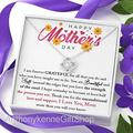 To my Mom Necklace, Mother's Day Gift, Daughter To Mother Gift, Mother Love Knot Necklace, Mother Jewelry, Happy Mothers Day, Mom Gift Ideas, Thank You Mother's Day, Meaningful Mother's Day Gift K15