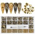 Professional Nail Crystal Kit, 8000pcs Multi Shapes Glass Crystal AB Rhinestones for Nail Art Craft Mix Sizes Non Hotfix Flatback Nail Gems, Wax Pen for Rhinestones, Acrylic Beads Storage Container