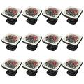 1.18 Inch Kitchen Cabinet Knobs Drawer Knobs Dresser Knobs Crystal Glass Knobs Drawer Pulls Door Knobs Dresser Drawer Handles Knobs for Dresser Drawers 12 Pack Merry Christmas Motorcycle