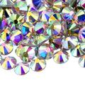 NCB 7200pcs Non Hotfix Flatback Crystals Rhinestones Round Glass Diamonds Charms Gems Stones Beads 3D for Nails Art Craft Jewels Accessories Phone Shoes Decorations (Crystal AB SS8 2.5mm 7200pcs)