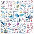 Konsait 200+pcs Ocean Sea Life Party Supplies Mermaid Tropical Fish Whale Temporary Tattoos Body Stickers for Girls Kids Birthday Party Bag Filler Gift Girls Birthday Party Favors Supplies Decora