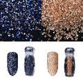 LBJTAKDP 2 Pcs Ultra Mini 1.2mm Diamond Diy Glass Sand Rhinestones Beads Iridescent Crystals, Micro Glass Caviar Beads Nail Art 3d Decorations, Swarovski Clear Rhinestone