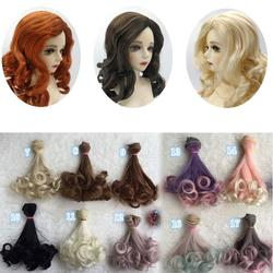 Farfi Cute Women DIY Long Curly Doll Hair Cosplay Wig Anime Party Extension Hairpiece