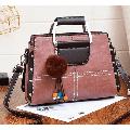 Women Trendy Handbag PU Satchel Shoulder Bag with Detachable Shoulder Strap