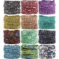 VANCROWN Headwear Head Wrap Sport Headband Sweatband 220 Patterns Magic Scarf 12PCS & 6PCS 12 in 1 (12PCS.Paisley)