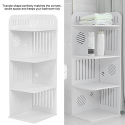 AMONIDA Storage Rack,3-Tier Wood Plastic Board Corner Rack Storage Shelf Bathroom Toiletries Holder Organizer, Storage Rack Organizer