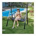Outdoor Porch Swing Bed Outdoor Swing Chairs for Adults, Princess Swing Bed Garden Swing Lazy Daze Hammocks Swing Bench Suitable for Patio, Garden Patio Furniture Swing Chair OutdoorGarden Swing Ya