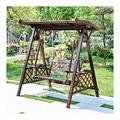 Outdoor Porch Swing Bed 3 Person Outdoor Patio Swing Chair, Wooden Porch Glider Swing Chair Outdoor Swing Chair Bench Suitable for Poolside, Balcony Patio Furniture Swing Chair OutdoorGarden Swing Ya