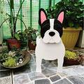 Cute Dog Shaped Gardening Pots, Creative Wooden Blocks Planter for Outdoor Plants, Cartoon Dog Planter Pots, Succulent Planters, Herb Garden Planter, Garden Yard Art Decor (B-French Bulldog)